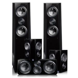 SVS Ultra Tower High-End házimozi hangfalszett magasfényű fekete